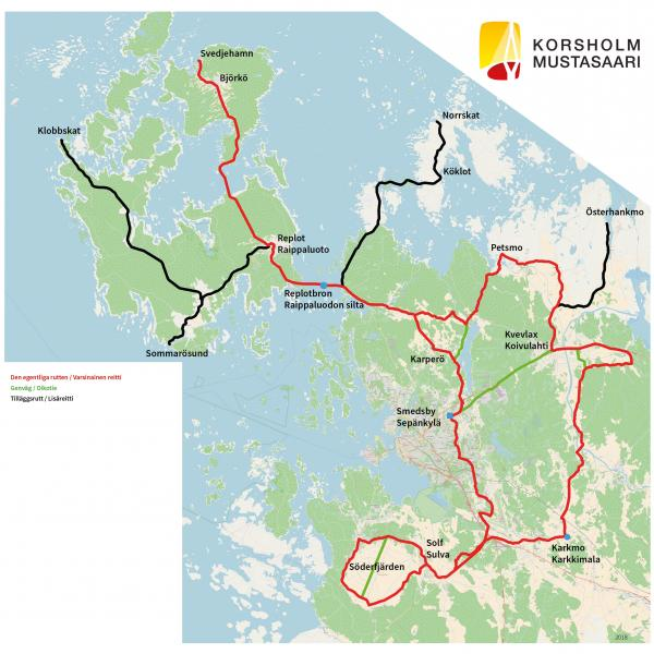 Karta: Cykelsemester